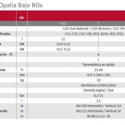 Opalia F-12 low Nox gas heater