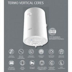 Ceres vertical electric heater of 50,80 and 100 L.