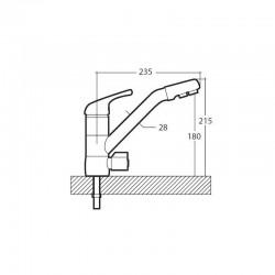 Arles 3-way mixer tap