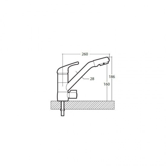 Ciprus 3-way mixer tap