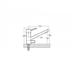 Cloe 3-way mixer tap