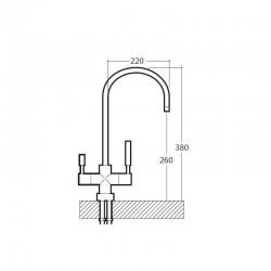 4-way Albany reverse osmosis faucet