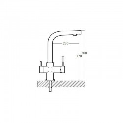 Austin 4-way reverse osmosis faucet
