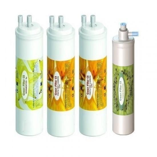Pack 4 CS filters with GAC carbon postfilter