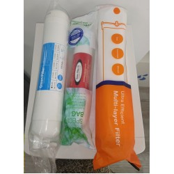 Filters and membrane for osmosis Prisma with pH adjustment