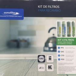 Kit 4 reverse osmosis filters