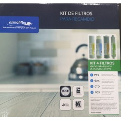Kit 4 reverse osmosis filters