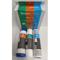 Green Filter 3 Filters Pack for Reverse Osmosis