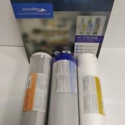 Kit 3 reverse osmosis filters