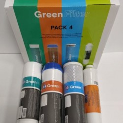Green Filter 4 Filters Pack for Reverse Osmosis