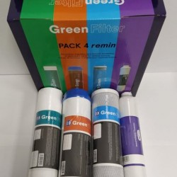 Pack 4 Green Filter Filters with Post Filter Increases PH