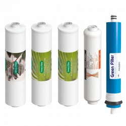 4 In-Line Quality hydrocompact filters with remineralizing post-filter and 50 GPD membrane
